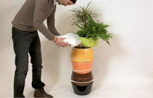 Adding Composting Mix
