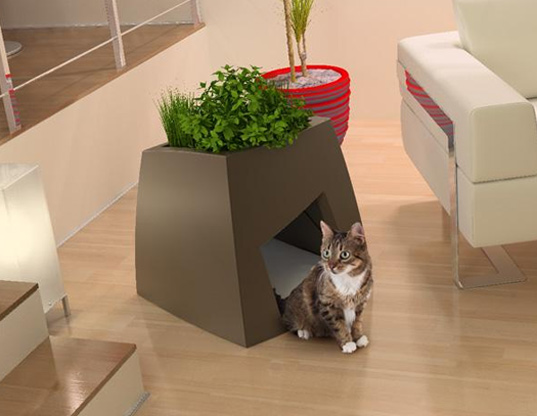 Planter pet house shoebox dwelling finding comfort style and dignity in small spaces - Pets for small spaces style ...