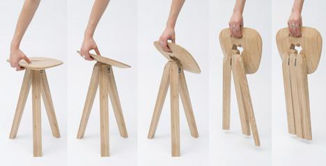 Folding Stool Shoebox Dwelling Finding Comfort Style