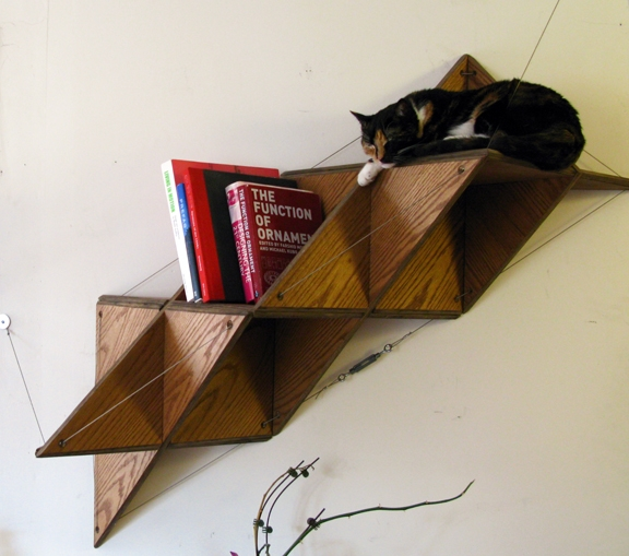 Triangular shelf shoebox dwelling finding comfort style and dignity in small spaces - Triangular bookshelf ...