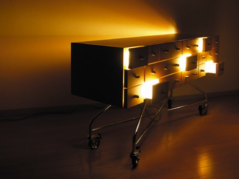This Cool Attempt To Combine Furniture With Lighting Reminds Me Of The  Blanco White Collection I Featured Some Time Ago. Light In Drawer, The  Concept Design ...