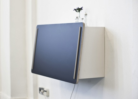 this sleek and concise piece is a combined effort of designers bastian diephaus and ismail zalbayrak of studio unieke the minimalist wall desk