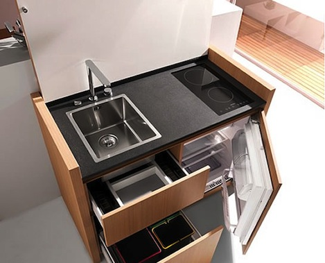 Kitchen shoebox dwelling finding comfort style and - Mini lave vaisselle ikea ...