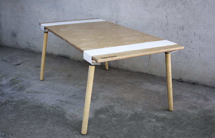 The Word U0027tableu0027 Is An Overestimation, However, Because The Project  Consists Of Two Pairs Of Legs Connected With Two Metal ...
