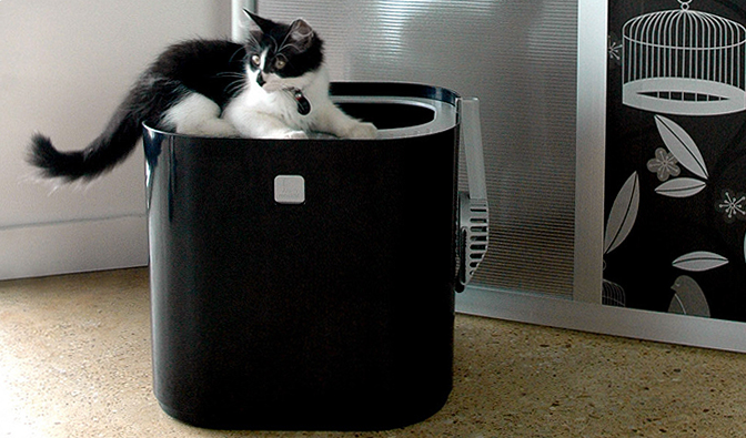 Modkat litter box shoebox dwelling finding comfort style and dignity in small spaces - Cat litter boxes for small spaces design ...