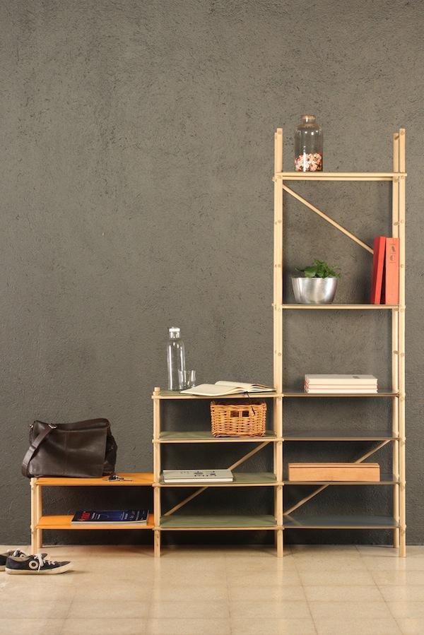 Andamio Shelf Shoebox Dwelling Finding Comfort Style
