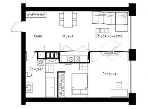 Transformer Apartment Floorplan