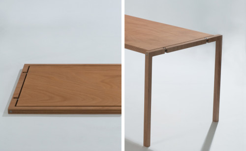 This Collapsible Table By Italian Designer Lodovico Bernardi Is A Thing Of  Beauty. Simple And Pure Design, Combined With A Clever Folding Action, ...