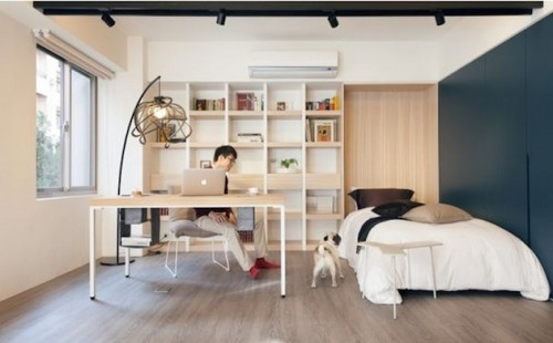 Tiny-Taipei-Loft-Outfitted-With-A-Piano-2