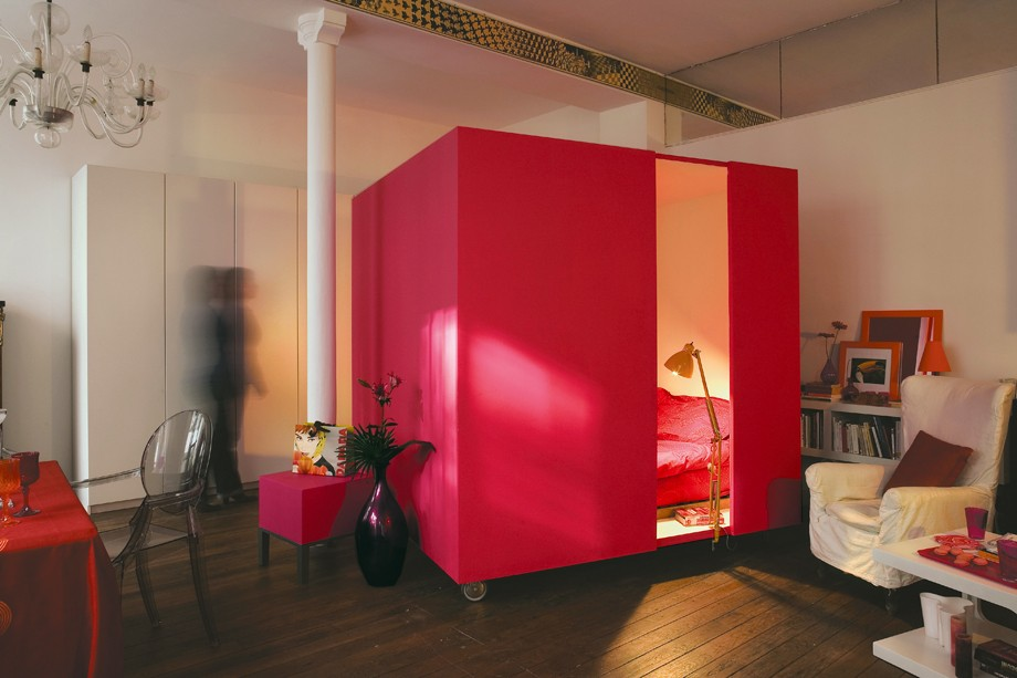 mobile bed cube shoebox dwelling finding comfort