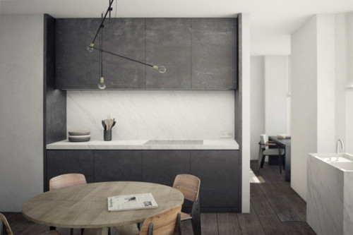 Minimalist apartment in brussels shoebox dwelling finding comfort style and dignity in - Comfortable beds for small spaces minimalist ...