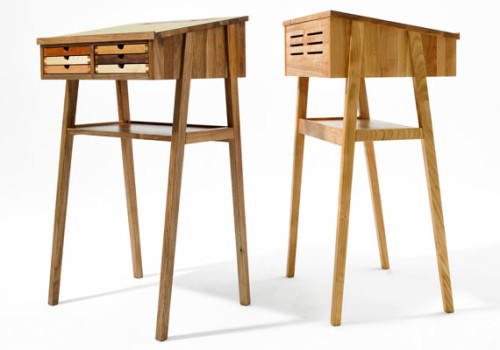 SIXtematic standing desk is a beautifully crafted space-saving piece,  created by Hungarian brand Sixay. The piece is perfect for a small  apartment, ...