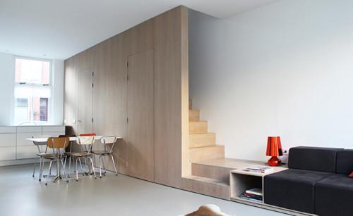 8A Architecten - pied de terre Leiden - woonkamer