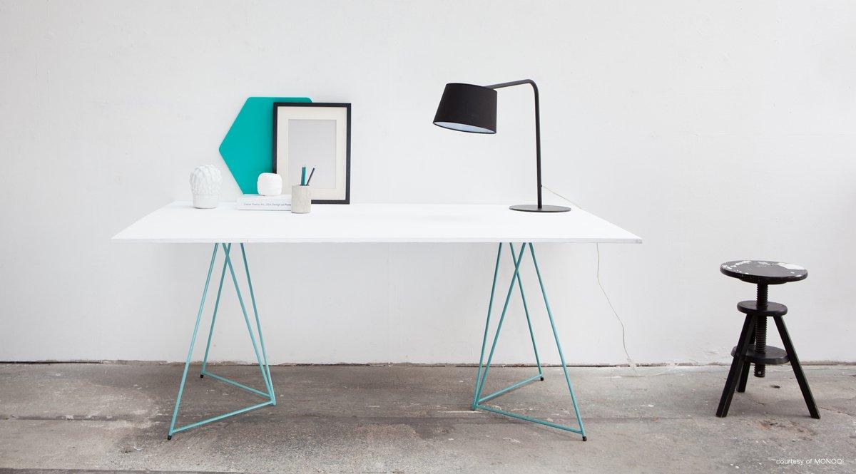 stackable table trestles shoebox dwelling finding. Black Bedroom Furniture Sets. Home Design Ideas