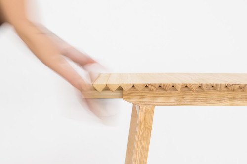 This Clever Adjustable Table, Named Wooden Cloth, Has Been Created By  Swedish Designer Nathalie Dackelid. The Piece Grows And Shrinks Easily To  Accommodate ...