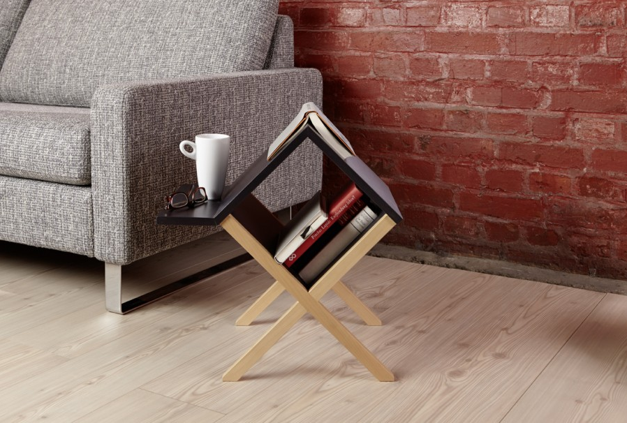 Book Side Table Shoebox Dwelling Finding Comfort