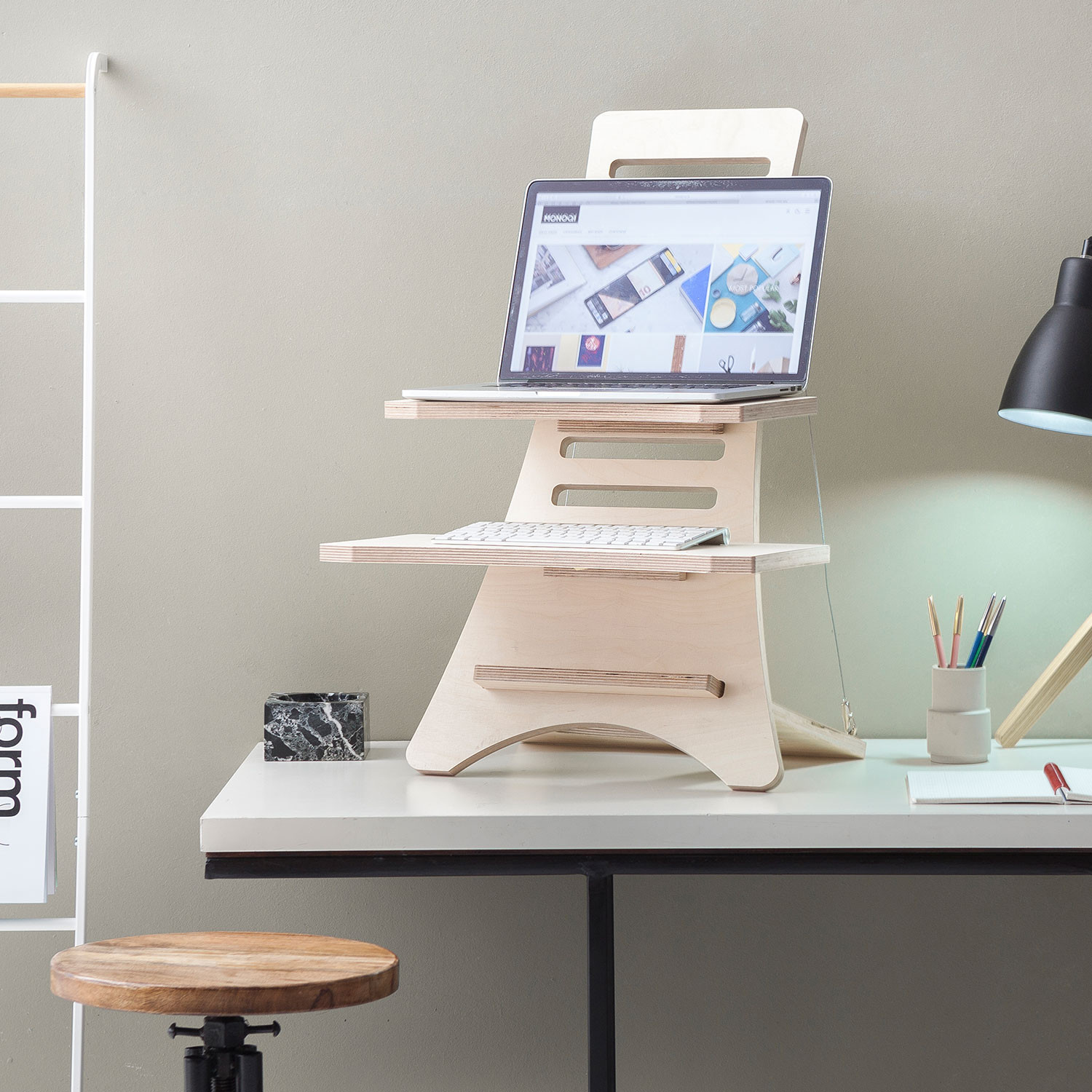 Standing Desk By Humble Works Shoebox Dwelling Finding