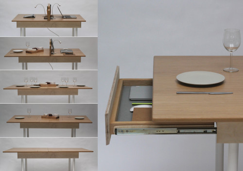 The Table For Two Idea By Daniel Liss Is So Simple And Ingenious It Gives You Ultimate Why Haven T I Thought Of Moment Piece A Desk